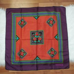 Christian Dior Silk Scarf Red and Purple